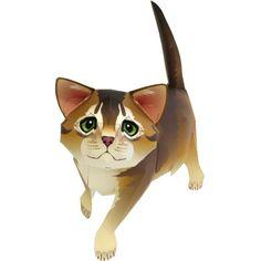 Abyssinian,Animals,Paper Craft,Mammals ,Animals,cat,Paper Craft,Pet series,easy,easy,cat