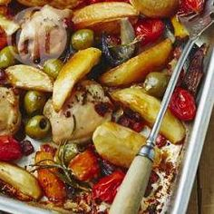 One pan Mediterranean roast chicken, potatoes and peppers @ allrecipes.co.uk