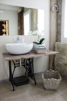 .What a great idea for a guest bath.