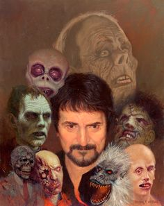 Daniel has been making art professionally for the past thirty one years. From paperback covers and children's books to gallery paintings and one of a kind art Horror Icons, Sci Fi Horror, Horror Art, Sci Fi Movies, Scary Movies, Horror Movies, Frankenstein 1931, Tom Savini, Movie Club
