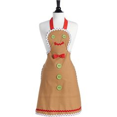 Jessie Steele Gingerbread Man Apron - adult and child sizes for holiday baking