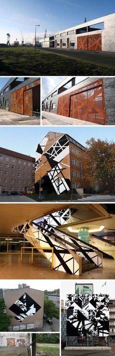 Graphic Surgery, Gateway fence in Amsterdam, Penta Architects, Street Art, graphic design, Abstract geometric patterns