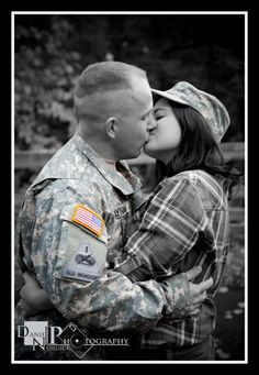 love this engagement pic of us in jarons army gear!!!! love it <3
