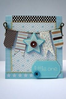 Cute baby boy card. Love the pennant.