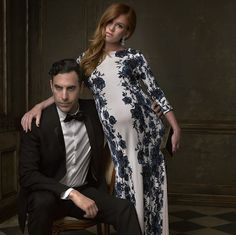 Celebrities Portraits at Oscars 2015 After Party - Sacha Baron Cohen and wife Isla Fisher