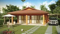 projetos-casas-térreas-3-quartos Built Environment, Ideas Para, Gazebo, Sweet Home, Outdoor Structures, House Design, Architecture, Outdoor Decor, Home Decor