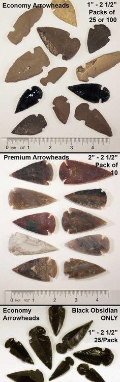 Native American Indian Arrowhead Replicas | Replica Made Arrowheads For Arrow Of Light Awards