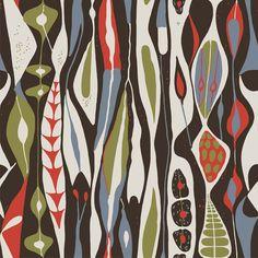 Papier peint Bulbous, collection Scandinavian Designers, édité par Boråstapeter / Référence : 2757.