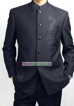 Formal Chinese Deep Blue Dragon Wedding Suit rental set traditional buy purchase on sale shop supplies supply sets equipemnt equipments Wedding Suit Rental, Wedding Suits, Trendy Wedding, Wedding Ideas, Disney Wedding Dresses, Disney Dresses, Chinese Suit, Chinese Dance, Dragon Wedding