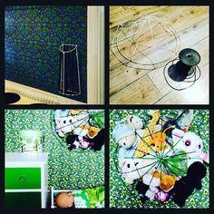 Storage. Vi har en så smart möss- och vantförvaring i hallen, från designtorget. (Översta bilden t.v) Det vore ju perfekt att ha nåt liknande till alla gossedjur...  Efter en tids jakt på den perfekta lampstommen, lite sprayfärg och snodd senare: Tadaa! Alla små och medelstora gossedjur ryms gott och väl.  #lampstomme #gröntärskönt #förvaring #storage #barnrum #barnrumsinspo #kidsroom #kidstorage