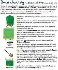 Oven Cleaning with Enjo Oven Glove and no nasty chemicals. I use a dish washing tablet for the rack soak if there is build up. Cleaning Chemicals, Oven Cleaning, Cleaning Hacks, Diy Hacks, Miracles Do Happen, Life Organization, Organizing, Chemical Free Cleaning, Clean Freak