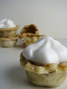 mini pumpkin pies  http://make-happy.blogspot.com/2010/11/mini-pumpkin-pies.html