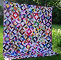 Bloggers Quilt Festival - A Humble Scrappy Quilt - Sane, Crazy, Crumby Quilting