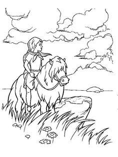 Tegninger til Farvelægning Det magiske sværd 8