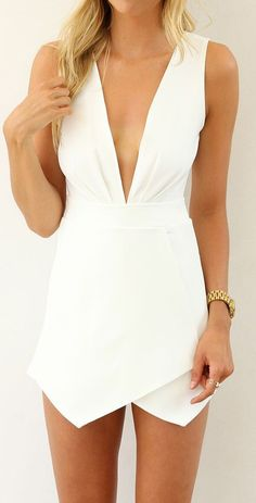 Plunge playsuit