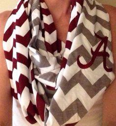 Alabama crimson tide chevron infinity scarf