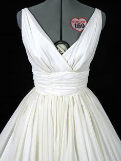 White vintage style dress