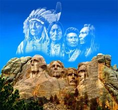 like the sky.....The true faces of the Dakota's should have been carved into the rock,not the founding fathers