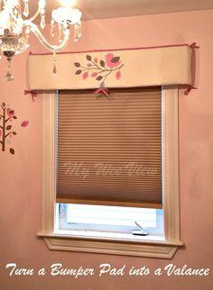 DIY Window Valance - Turn a Bumper Pad into a Valance