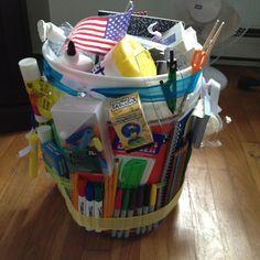 School Supply Gift Bucket