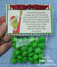 Make Time 2 Craft: Grinch Pills and Santa Cookie Toppers
