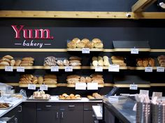 Yum. Bakery at the Calgary Farmers Market. We helped them come up with a new name along with a logo identity, signage and packaging ideas.
