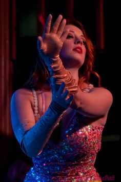 When in Austin, make sure to check out the thriving burlesque scene. This is Jolie Ampere Goodnight of the Jigglewatts Burlesque Revue.