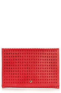Perforated Foldover Clutch from @Nordstrom