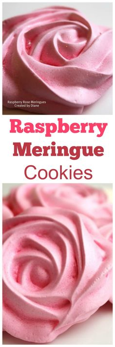raspberry meringue cookies from @createdbydiane