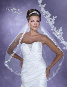 Bella Mera Bridal Boutique - Symphony Bridal Veil - Style 6129VL -Lace Embroidered Edge Veil,  (http://www.bellamerabridal.com/symphony-bridal-veil-style-6129vl-lace-embroidered-edge-veil/)