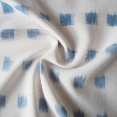 White And Blue Cotton Ikat Fabric - Guthrie & Ghani Silver Color Palette, Ikat Fabric, Blue And Silver, Bridesmaid Dresses, Amp, Cotton, Bridesmade Dresses, Bride Maid Dresses, Wedding Bridesmaid Dresses