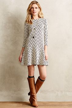 Chevron Crest Dress by Saturday/Sunday #anthroregistry
