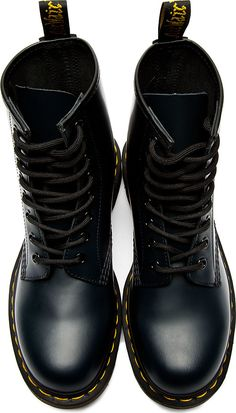 Dr. Martens: Navy Leather 1460 8-Eye Boots
