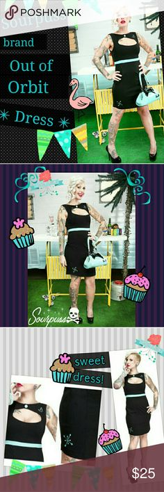 "✨Sourpuss Out of Orbit Retro Rockabilly Pin-up✨ ✨Brand new with tags attached,  sadly this dress is a re~Posh due to the fact that I couldn't fit into it!  We'll,  as they say,  my loss is your gain! Retail value is about $60, I am only selling to replace what I paid for this. (According to the size chart,  XXL measurements are bust=40-42"" waist=34-36"" and hips=40 1/2-43"") HOWEVER : I measured 34"" bust and 36"" waist on this specific dress.✨Super stretchy nylon fabric hugs curves,  cut out…"