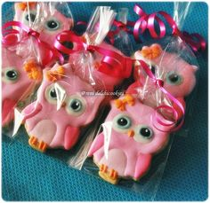 Pink Owl cookies for Ashley