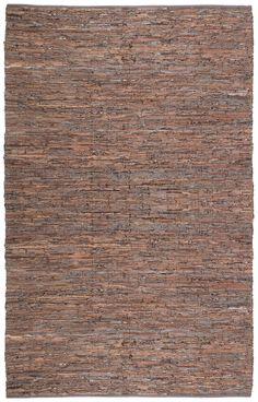 St. Croix Matador Leather Chindi Brown Area Rug & Reviews | Wayfair $498 10x14