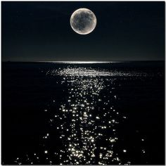 There's more moon light at certain times of the month than others -just like there are times in our life when the light is a little brighter. A never ending infinite cycle of light and dark. #FullMoonandJustMoon