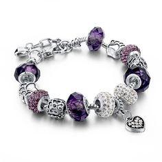 fashion diy crystalglass beads charm bracelets for women snake chain bracelets bangles pulsera gift fashion diy crystalglass beads charm - Pandora Bracelet Design Ideas