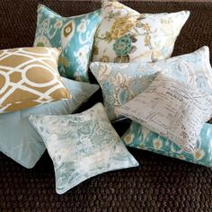Ballard Perfect Accent Pillows - fabric is specially selected for its easy mix-and-match versatility.