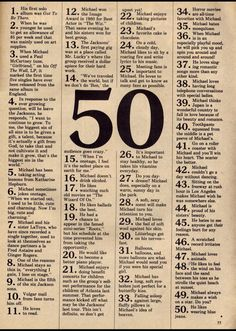 50 facts about Michael Jackson from the early 70s.  Not sure how many of them I really believe, but they're fun to read!