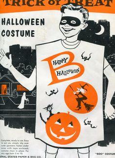 Paper Halloween Costumes, 1950s