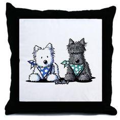 KiniArt™ Terrier Twosome Throw Pillow