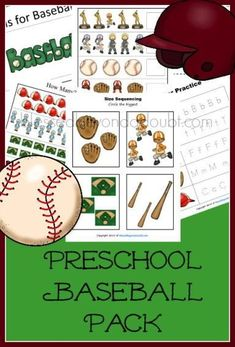 FREE Preschool baseball Pack for homeschool or daycares. Over 20 pages!