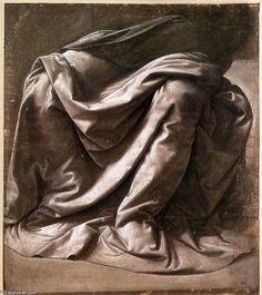 Leonardo Da Vinci, Garment study for a seated figure