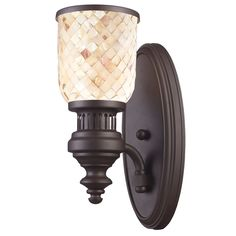 ELK LIGHTING Chadwick Collection 1-Light Sconce In Oiled