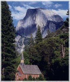 Yosemite Valley Chapel!  Never have I been to a more quaint church in a more beautiful setting.