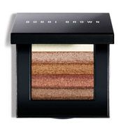 """Bobbi Brown Shimmer Brick in """"Bronze."""" You can: use the individual shades for your eyes; swirl all the shades around for the """"shimmer"""" look, dusting it on your cheek bones; highlight the bridge of your nose, forehead, chin, clavicles or collar bones, chest and legs if you're having pictures taken or going out with friends or your loved one."""