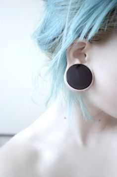 beautiful.  #gauges #bluehair #hair