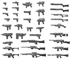 pistols_guns_snipers_rifles_explosives_draw_how_learn_to_example