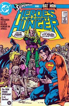 Heroes Against Hunger 1 DC Comics Comic Book Cover Superman Batman Lex Luthor Comic Book Superheroes, Dc Comic Books, Comic Book Covers, Comic Art, Batman Y Superman, Batman Hero, Superman Stuff, Superman Family, Dc Comics